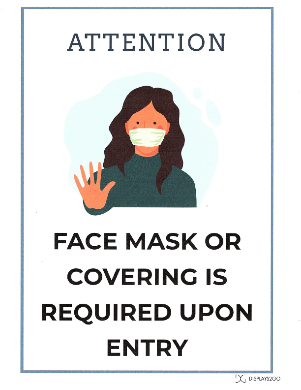 Covid-19 Face Mask Notice